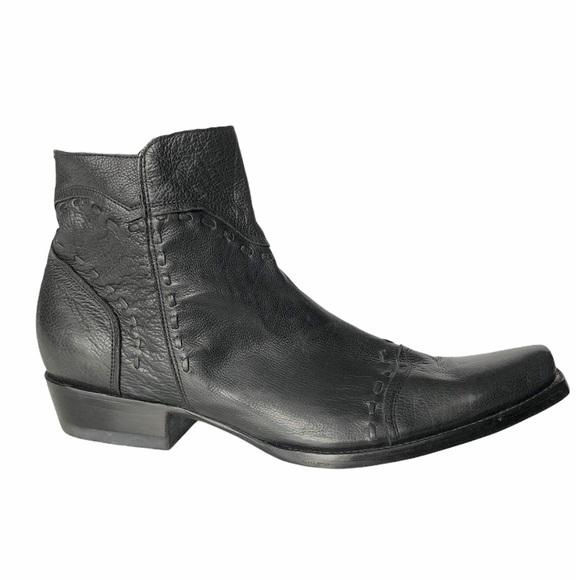 Old GRINGO Men's Black Leather Boots 10.5 D